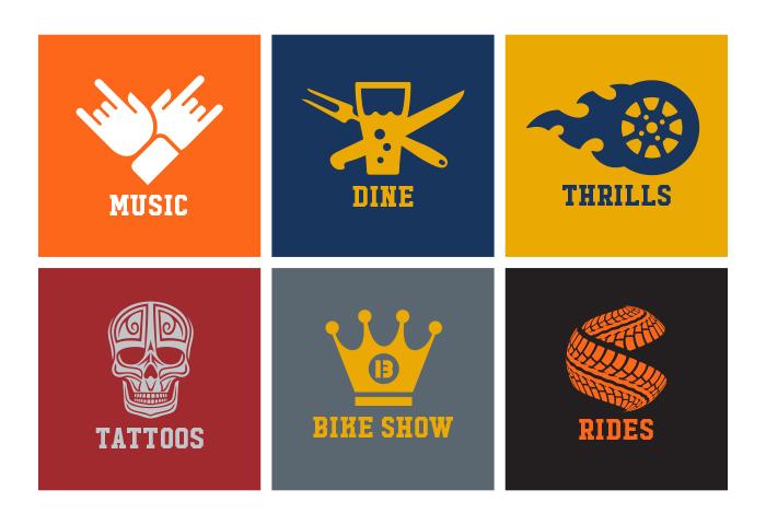 Capital City Bikefest Icons