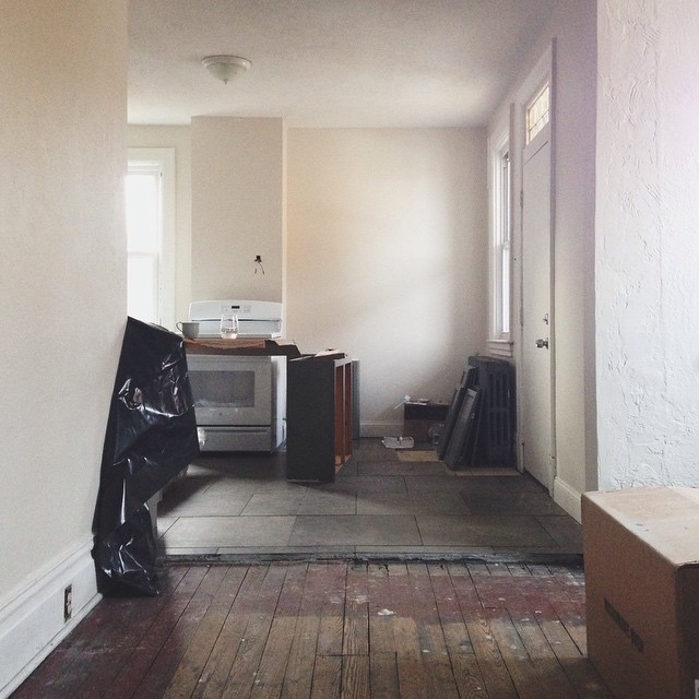 Kitchen. So close.       #kitchen #tile #dahltile #homereno #house #saturday #project #oldhouse #newhome #grey #white