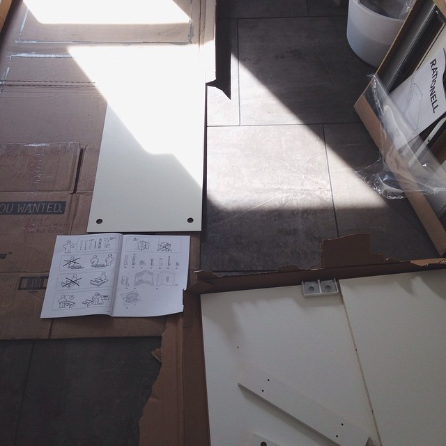 Entering IKEA land. We will probably argue.       #whererelationshipsgotodie #ikea #assembly #kitchen