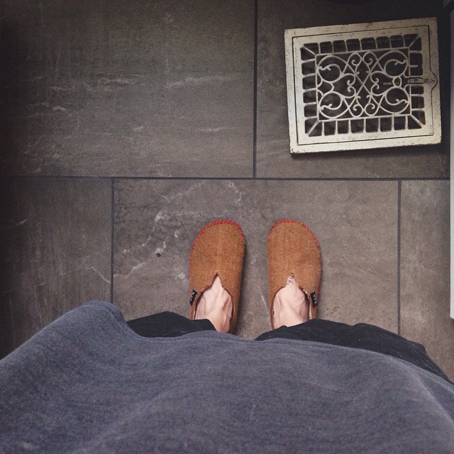 Slippers, pj's, coffee, donuts - it's 7:30 and I'm ready to edit some pictures. Kinda like Saturday morning cartoons, but my adult-life version.     #Saturday #morning #saturdayvibes #slippers #woolrich #coffee #donuts