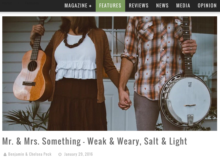 CCM Magazine Featured Article Mr & Mrs Something