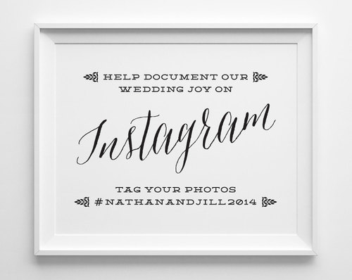 Wedding Signs, Instagram Wedding Sign, If You Instagram Sign ...