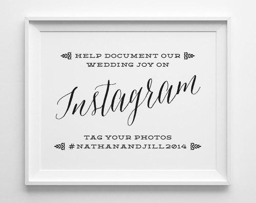 Wedding Signs, Instagram Wedding Sign, If You Instagram Sign, Black ...