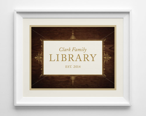 Personalized Library Sign Personalized Wedding Gift For Book Lovers