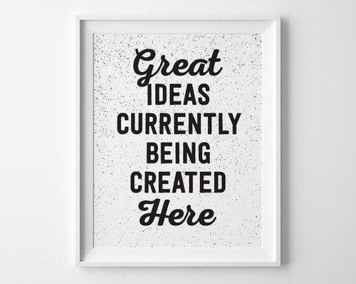 Great Ideas Inspirational Print, Motivational Wall Decor, Modern ...