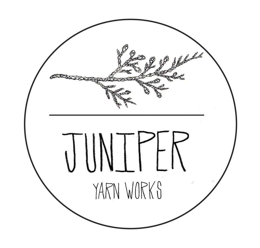 Juniper Yarn Works Logo Design