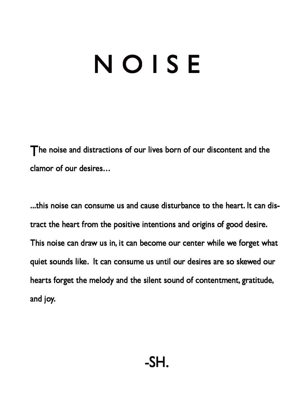 """""""Noise"""""""