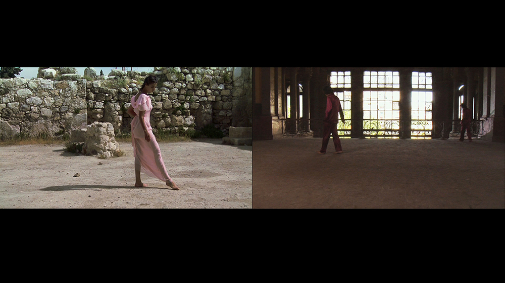 "The Girl Splendid In Walking, 2009, two-channel video projection, HD, 17 min. 42 sec.                                   Normal     0                     false     false     false         EN-US     JA     X-NONE                                                                                                                                                                                                                                                                                                                                                                                                                                                                                                                                                                                                                                                                                                                    /* Style Definitions */ table.MsoNormalTable 	{mso-style-name:""Table Normal""; 	mso-tstyle-rowband-size:0; 	mso-tstyle-colband-size:0; 	mso-style-noshow:yes; 	mso-style-priority:99; 	mso-style-parent:""""; 	mso-padding-alt:0in 5.4pt 0in 5.4pt; 	mso-para-margin:0in; 	mso-para-margin-bottom:.0001pt; 	mso-pagination:widow-orphan; 	font-size:12.0pt; 	font-family:Cambria; 	mso-ascii-font-family:Cambria; 	mso-ascii-theme-font:minor-latin; 	mso-hansi-font-family:Cambria; 	mso-hansi-theme-font:minor-latin; 	mso-ansi-language:EN-US;}"