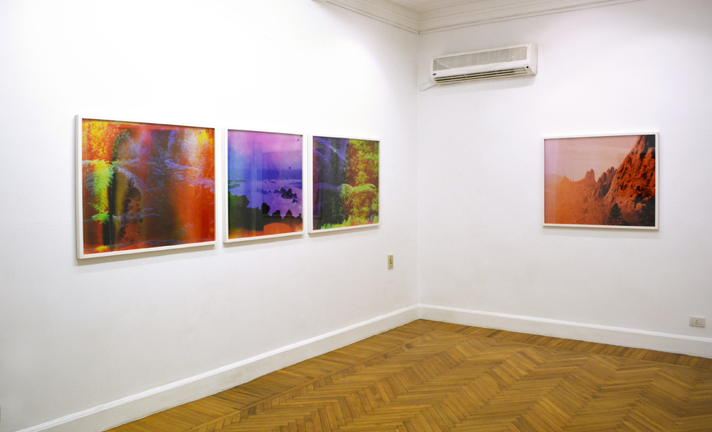 Installation shot, Basim Magdy, Measuring the Last Breaths of Time on a Fading Scale, 2014