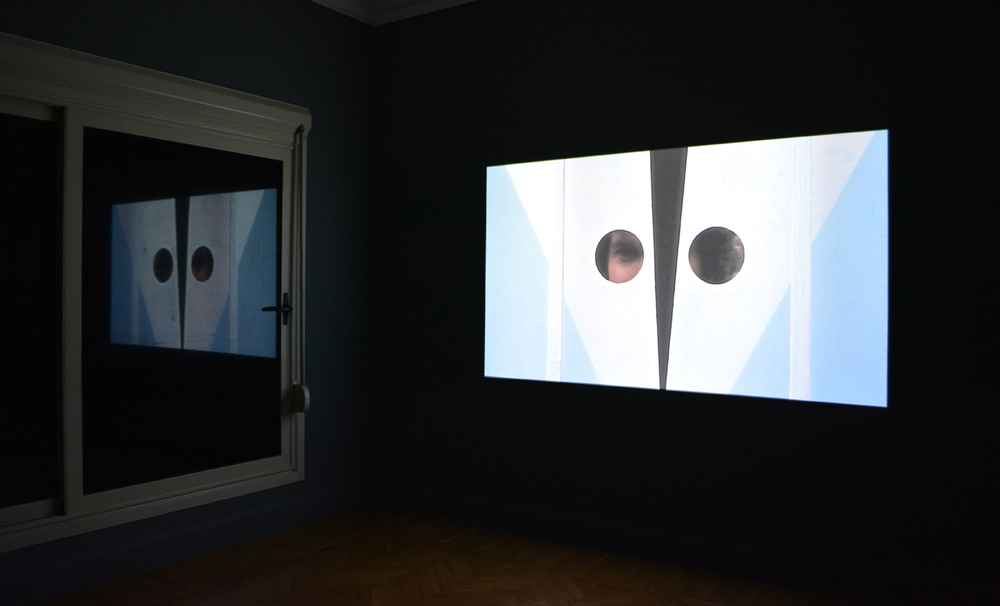 Installation shot, Basim Magdy, Time Laughs Back at You Like a Sunken Ship, 2012, Super 8 film transferred to HD video. 9 min. 31 sec.