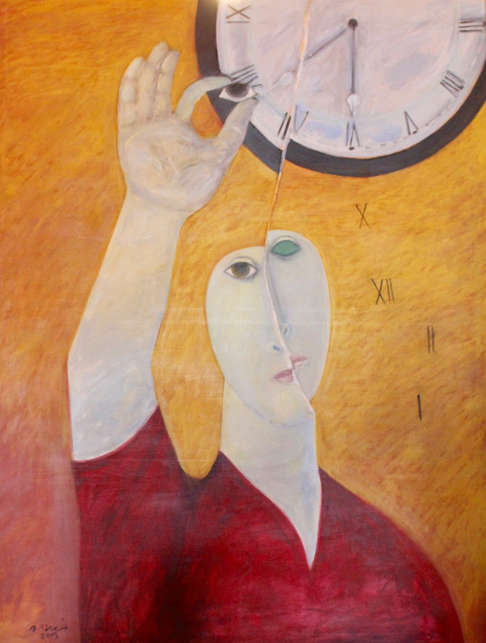 Ahmed Morsi, Eyeing Time, 2000, Acrylic on canvas, 199 x 154 cm.