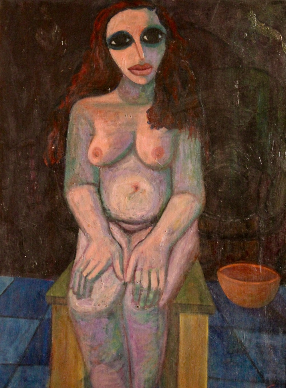 Ahmed Morsi, Seated Nude, 1959, Oil on canvas, 89 x 70 cm.