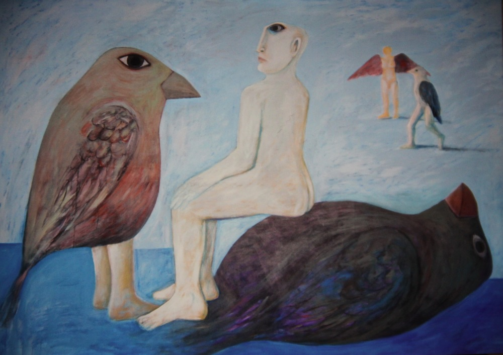 Ahmed Morsi, Black Bird, 2007, Acrylic on canvas, 253 x 203 cm.