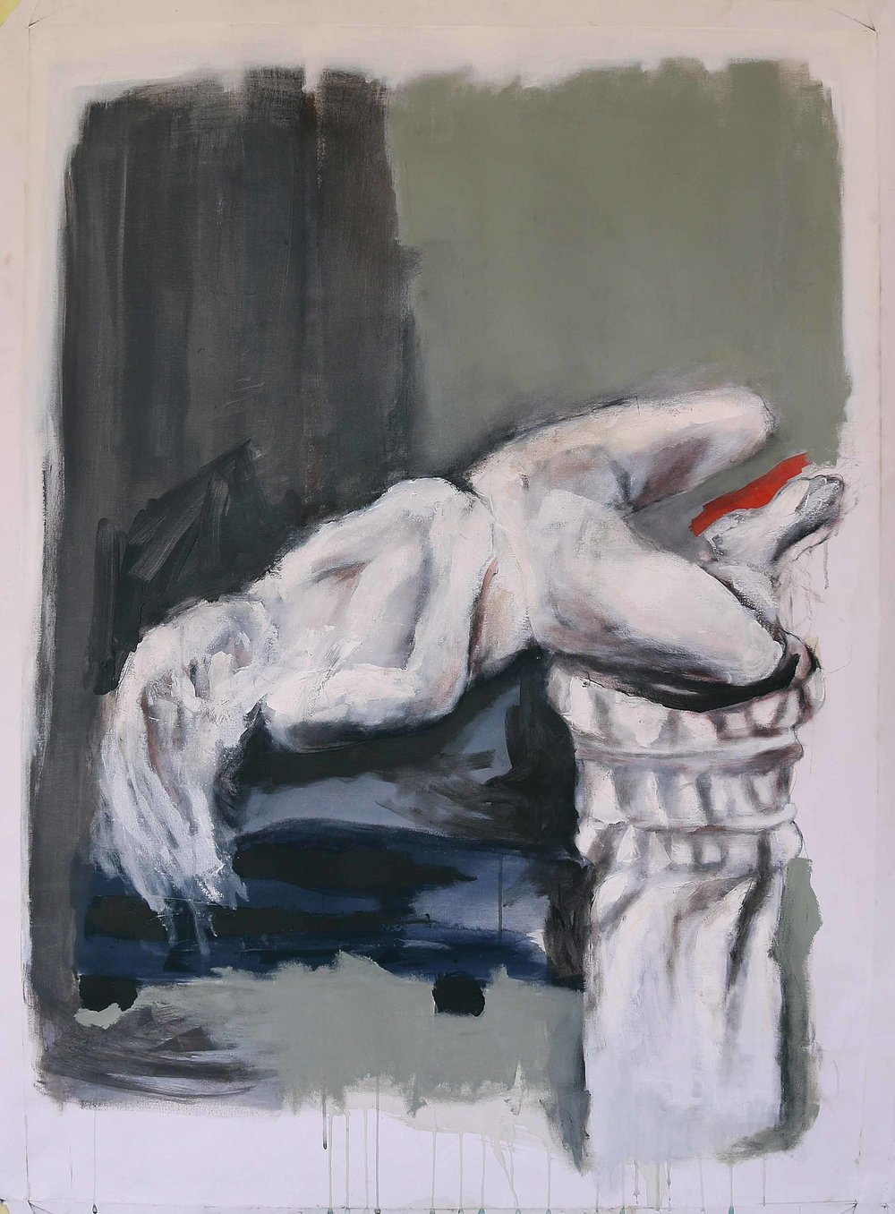 Sleeping Figure, 2016, Acrylic paint on canvas, 140 x 100 cm.