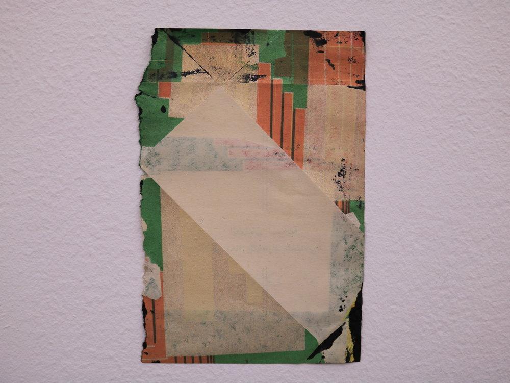 Untitled, 2016, Inkjet on book page, 16 cm x 12 cm.
