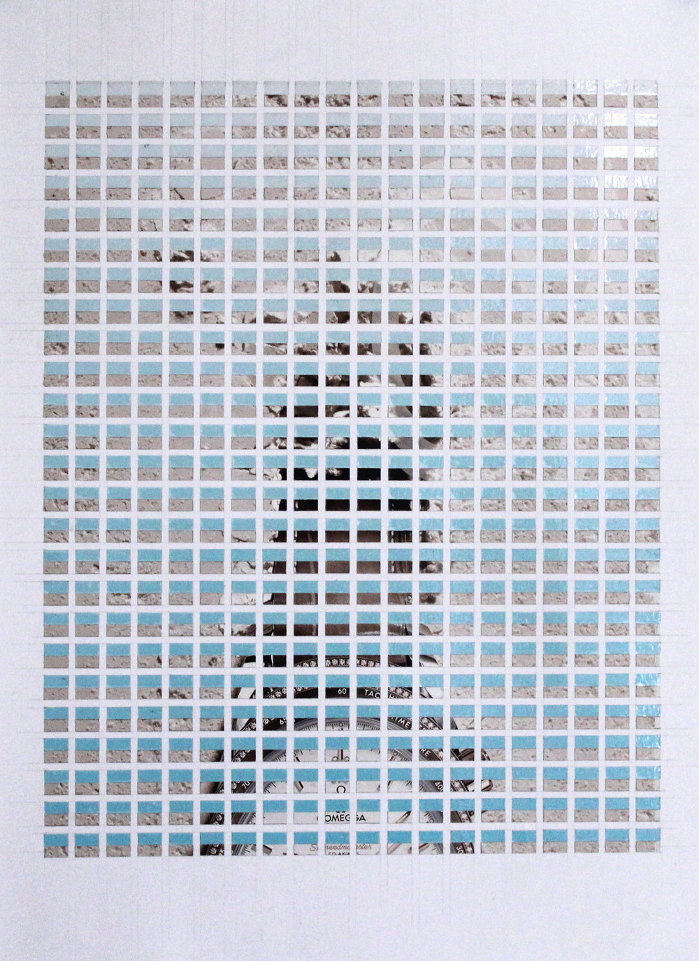 Diamond Bezel (Omega Seamaster, part 1), 2018, Magazine - vinyl on paper, 29.7 x 42 cm.