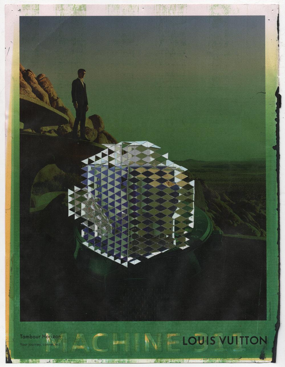 Peach Machine 311 (TQSC), 2018, catalog - inkjet on magazine page, 26.7 x 20.5 cm.