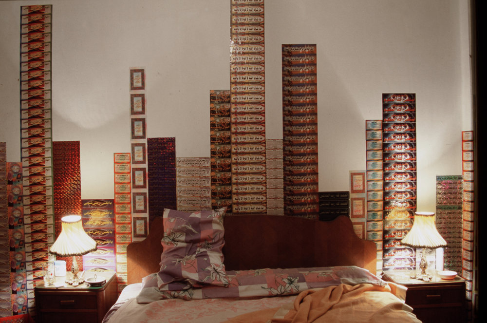 Secure, In a Furnished Flat in Cairo, 2004, site-specific installation. Installation view.