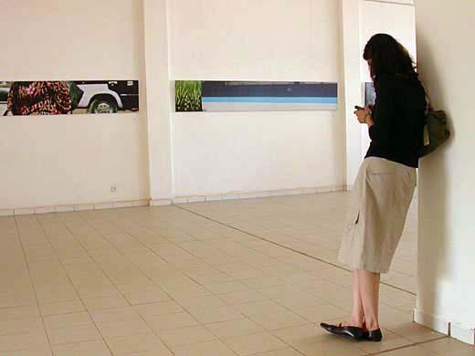 Cairoscapes, 2003, photo series, 300 x 50 cm. Installation view at Bamako Biennial, Mali, 2005.