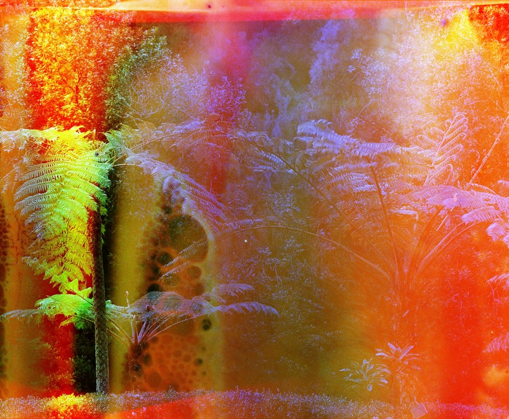 Fate Brought Us to the Shores of a Lava Lake at Dawn (no. 1), 2014, C-print from a chemically altered negative on metallic paper, 82 x 100 cm