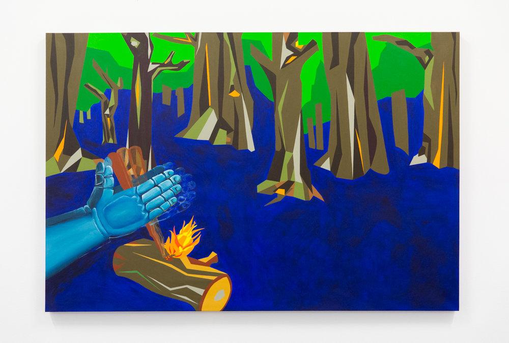 Bark #5, 2018, Acrylic on canvas, 108 x 160 cm