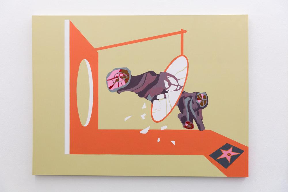 Bark #8, 2018, Acrylic on canvas, 112 x 150 cm