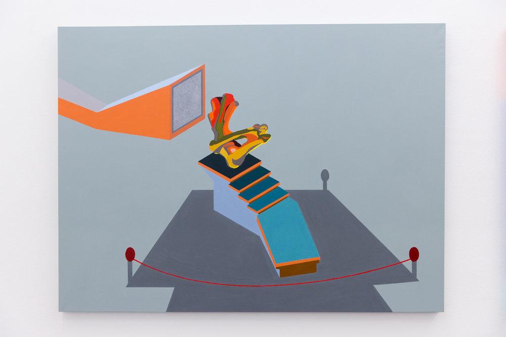 Bark #9, 2018, Acrylic on canvas, 112 x 150 cm