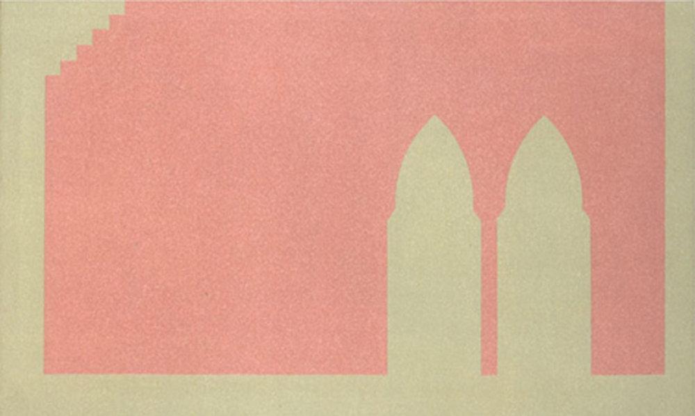 Untitled, 2001, acrylic on canvas, 27 x 42cm