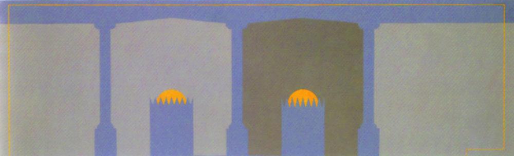 Untitled (sun), 2000, acrylic on canvas, 60 x 195 cm