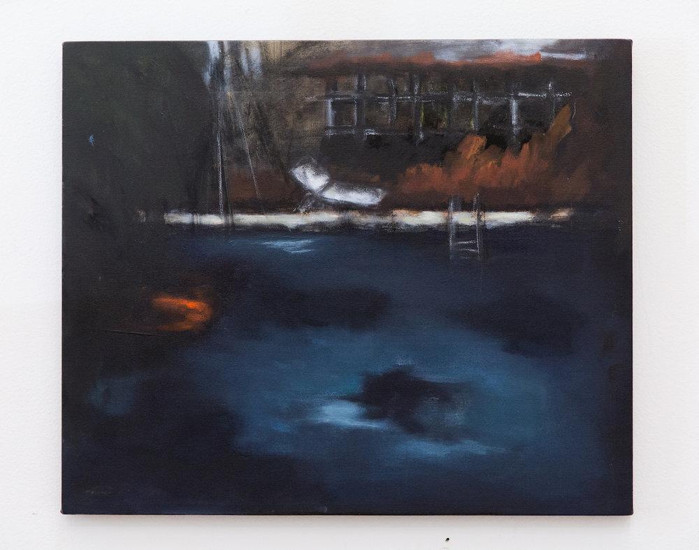 Day Swim 3, 2018, acrylic on canvas, 62 x 51 cm.