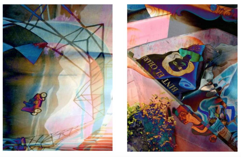 Right: Sinai Flip, Left: Bent El Chark, 2015, pigmented ink print on rice paper, 83 x 63 cm