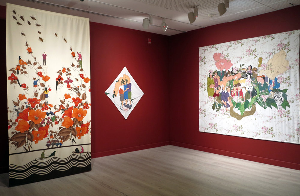 Installation shot, 15th Istanbul Biennial, Pera Museum, 2017.
