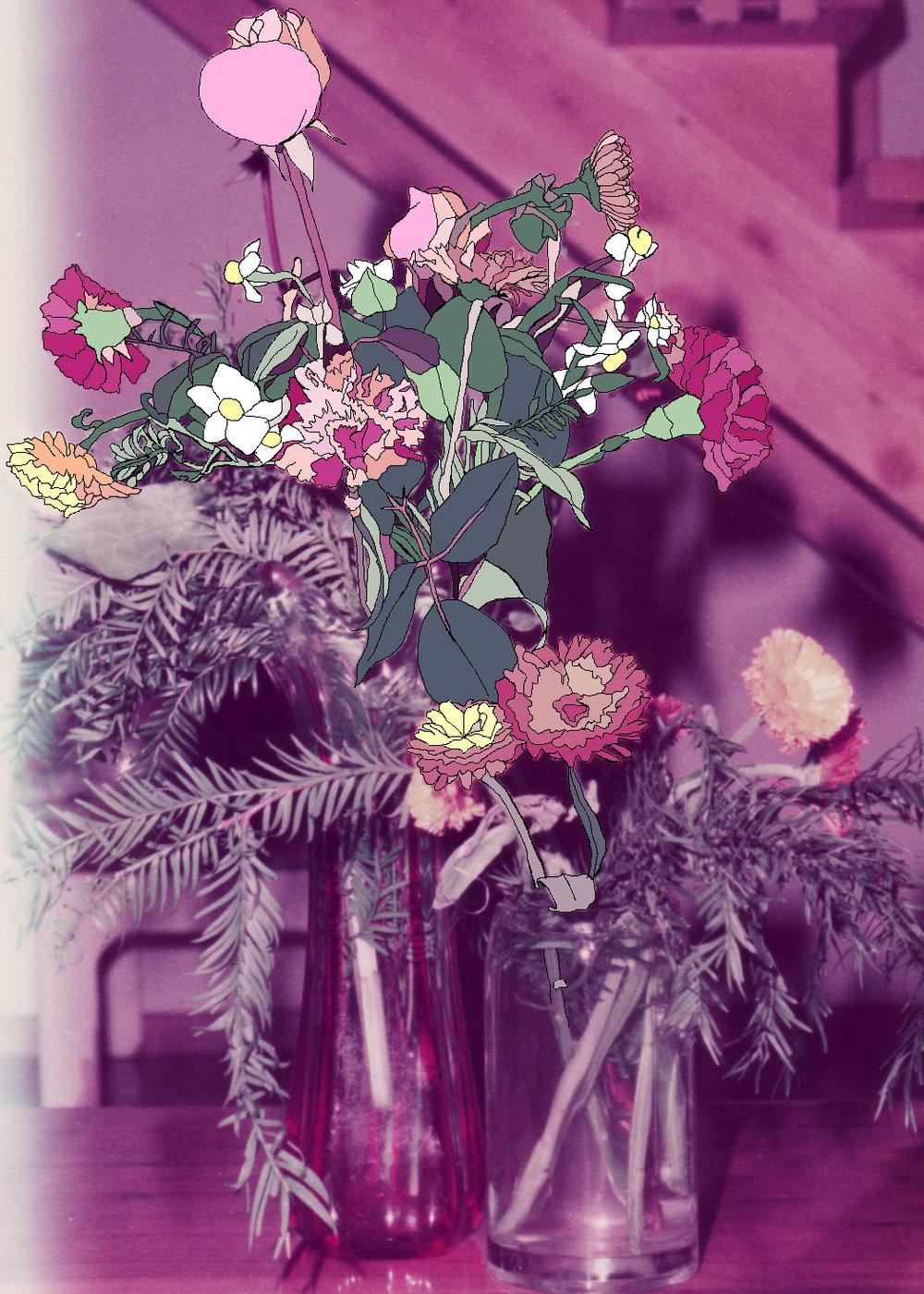 Flowers, archival ink print, 60 x 45 cm, 2011.