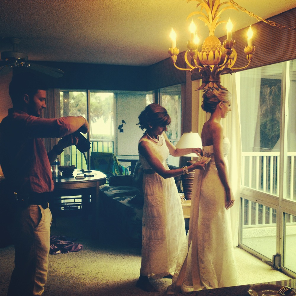 I love being able to watch the bride get ready! I can't count the times I've seen this and every time it is so exciting!