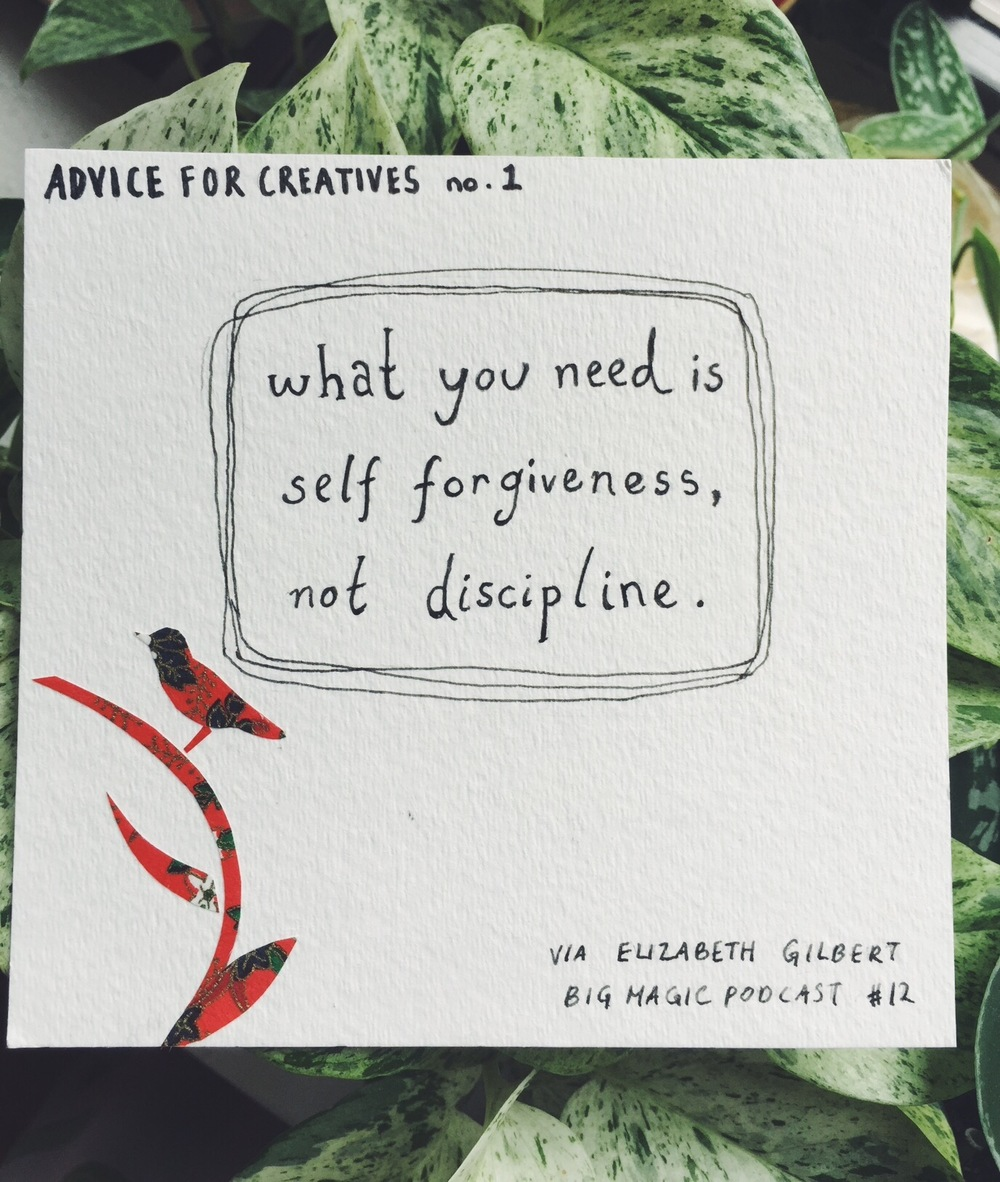what you need is self forgiveness
