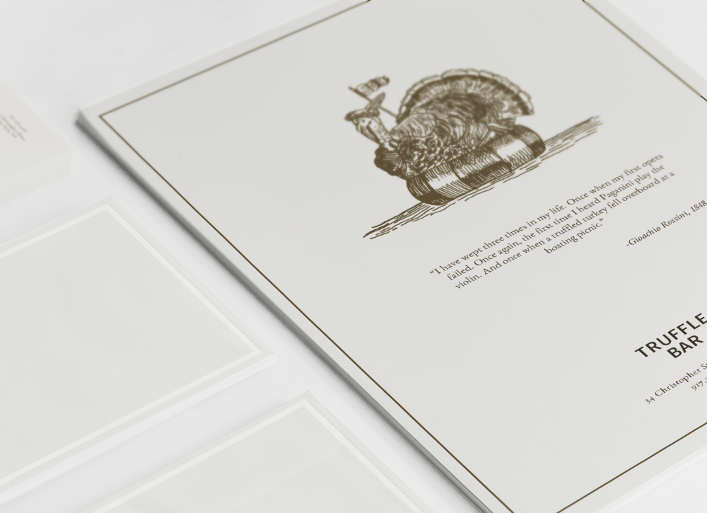 Truffle Bar - brand identity for an elegant restaurant concept