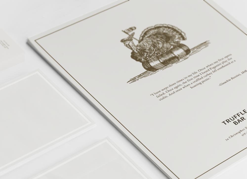 Branding a truffle-inspired restaurant concept.