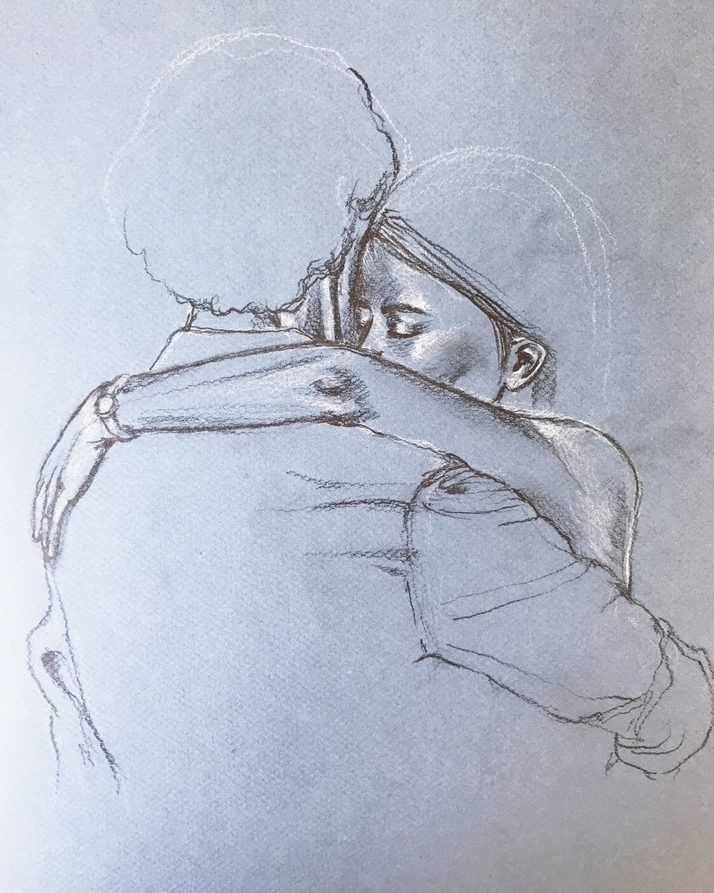 tango portrait - immortalize your embrace...NOTES — Please submit reference photos you'd like me to use. Turnaround time is 3-4 weeks, rush orders available upon request.