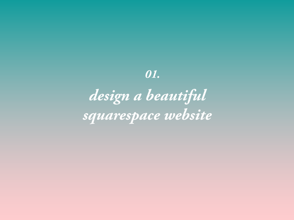 let your website speak for you - Let's build an eye-catching site that represents the best of your past work, authentically embodies your present, and nurtures your fullest future potential. I've been designing Squarespace websites for over six years — it's my go-to platform for small businesses and creative entrepreneurs for its versatility, flexibility, and beautiful design.Process: 2-4 weeks turnaround time with 1-2 rounds of revisions Includes: 1-2 phone calls, content mapping, basic UX and brand strategyResults: a beautiful, flexible site that meets your strategic goalsPlease note: simple sites start at $800; rates increase with complexity