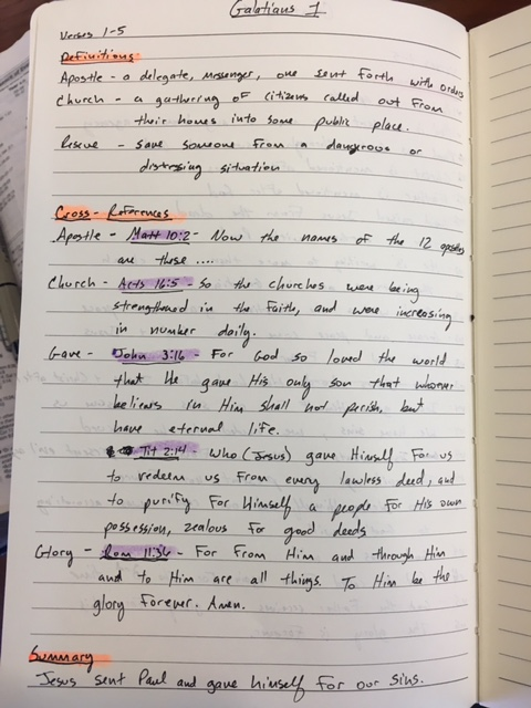 this is an example of definitions, cross-references and a summary.  do this for each section.