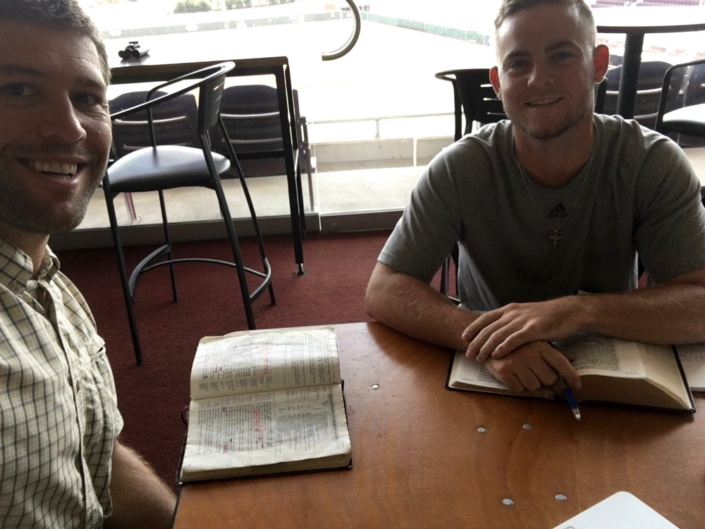Going through the book of Galatians with Cody Brown this past fall