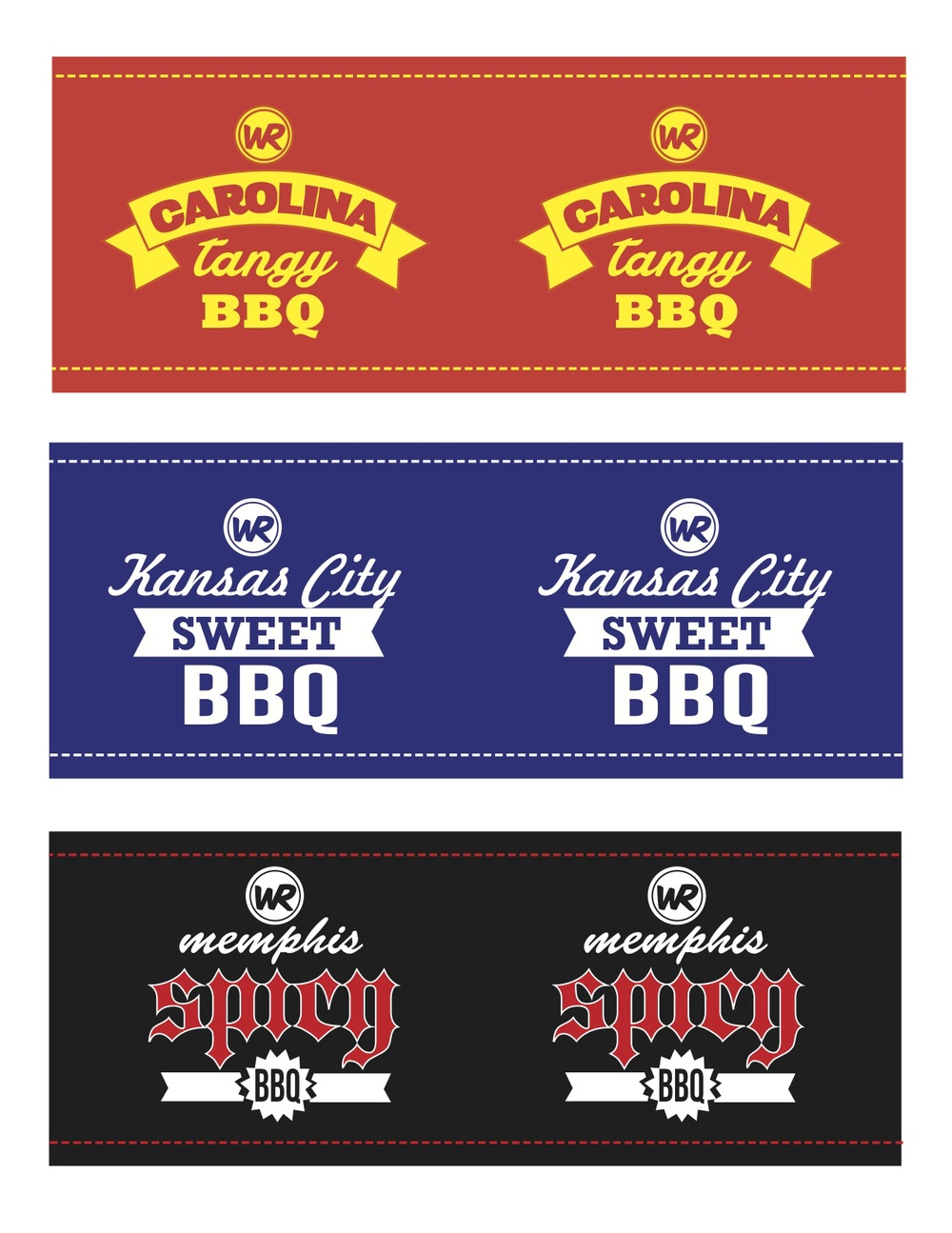 BBQ BOTTLE STICKERS