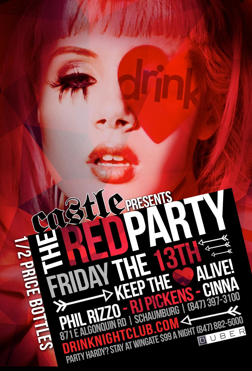 Drink Nightclub, Castle presents The Red Party