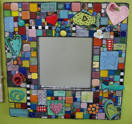 Mosaic Frame By Heidi Borchers