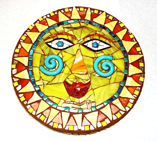 Mosaic Stepping Stone By Heidi Borchers