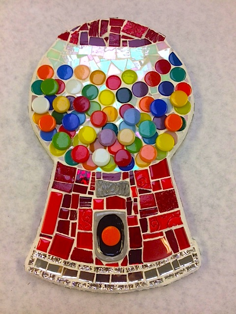 Mosaic Gum Ball Machine by Heidi Borchers