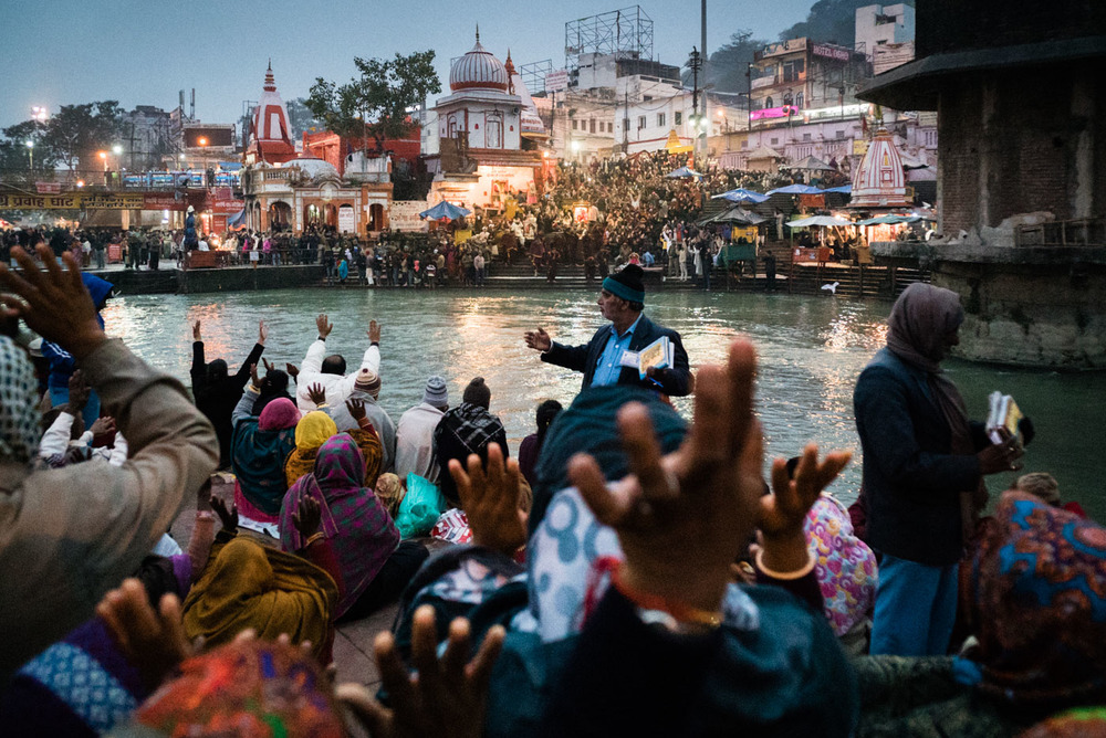 Ganges Aarti ceremony in Haridwar, India  - Leica 21mm Super Elmar f/3.4