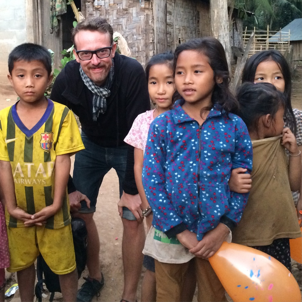 Meeting some nice kids in a remote village in Northern Laos.