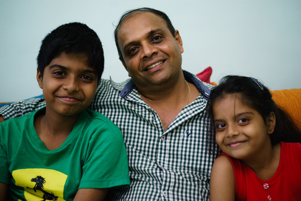 My fixer in Sri Lanka, Priyantha, at home with his kids.