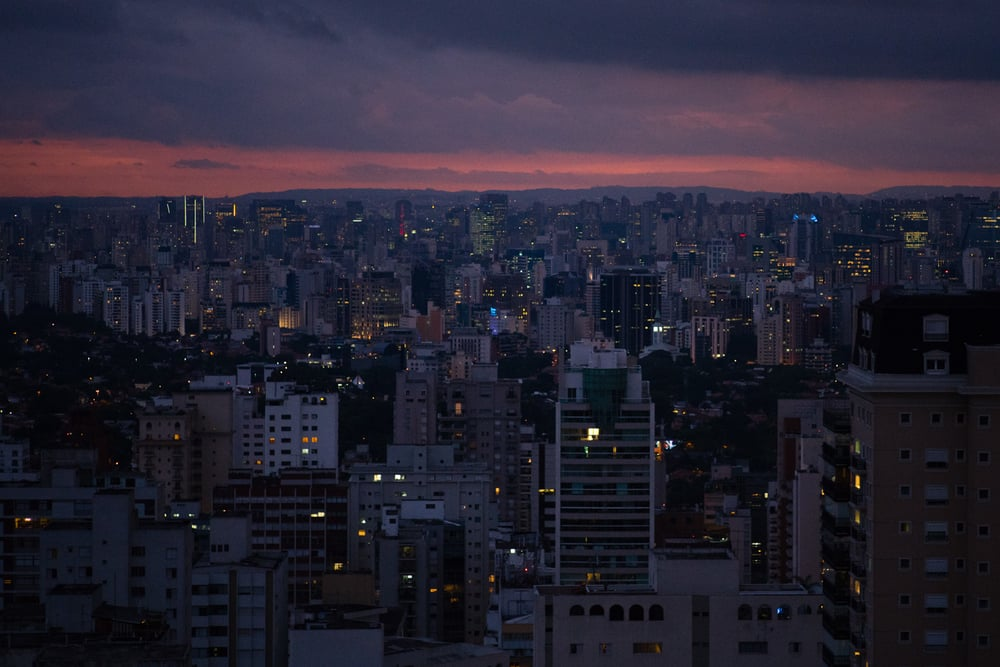 A city like Sao Paulo is Best Appreciated at Night.